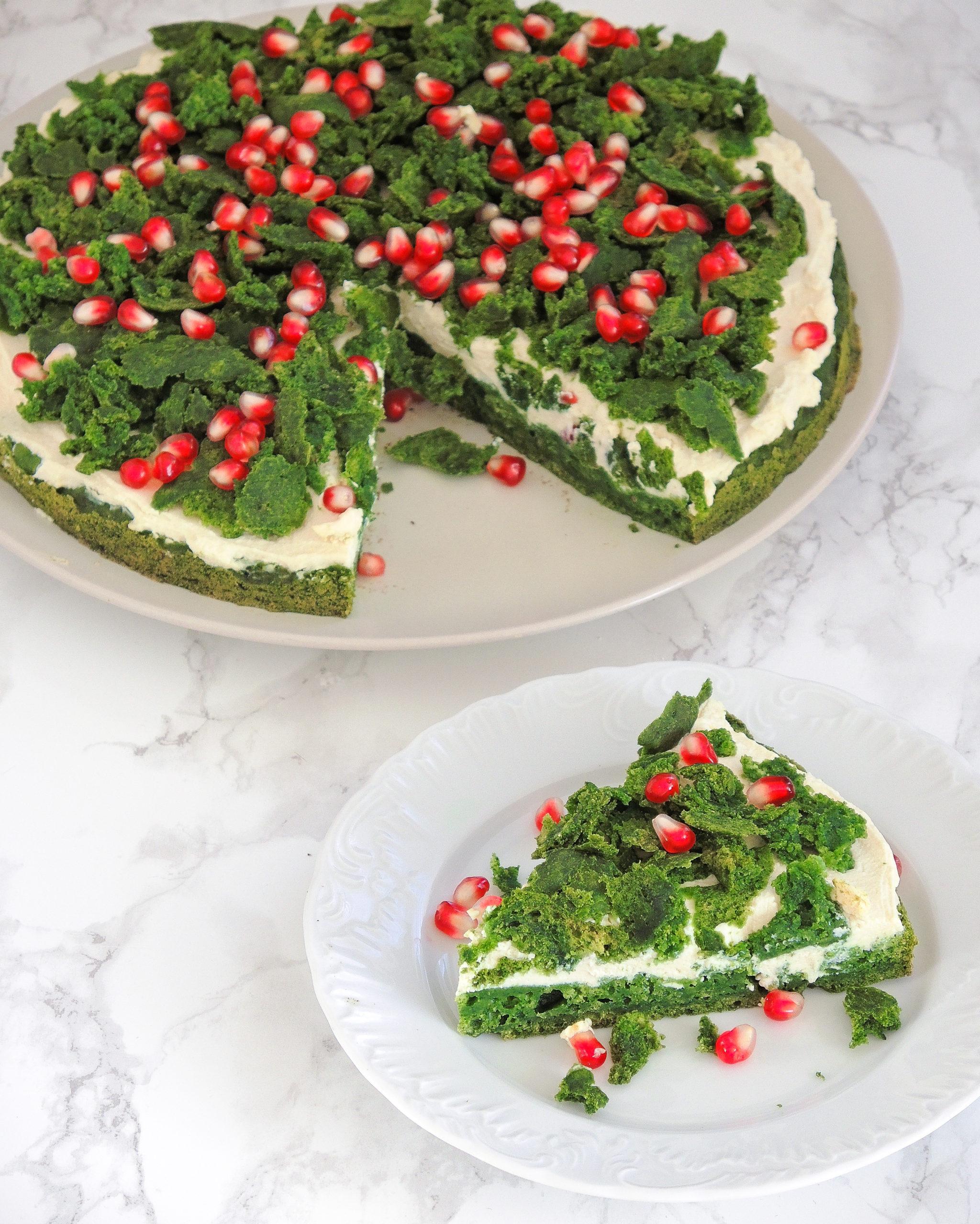 Ciasto leśny mech – w 100% roślinne