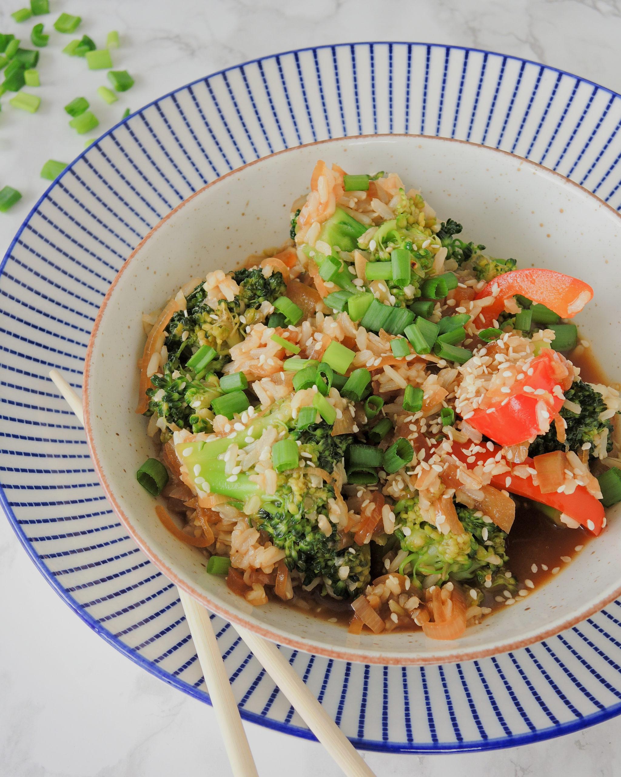 Warzywa w sosie teriyaki
