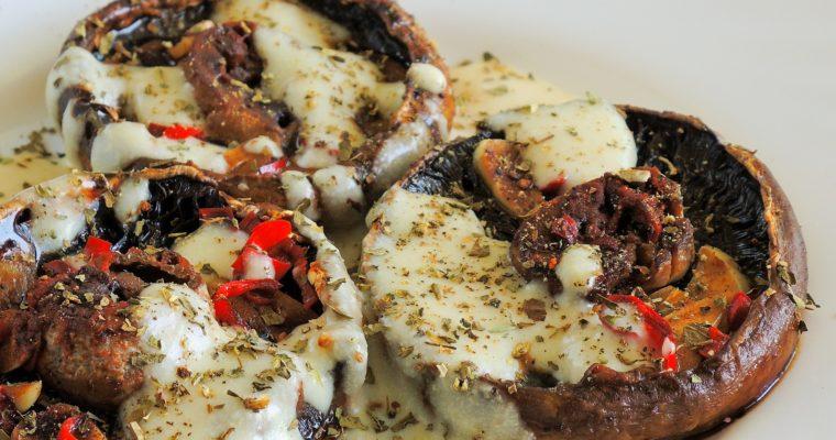 Grillowane Pieczarki Portobello z sosem czosnkowym